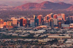 Arizona has a large economy that is concentrated in the metro Phoenix area.