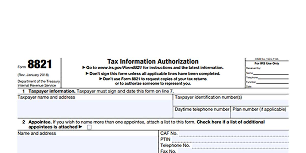 Tax Form 8821 Required For Invoice Factoring Factoringclub