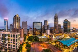 Charlotte, North Carolina is the country's third largest banking center.